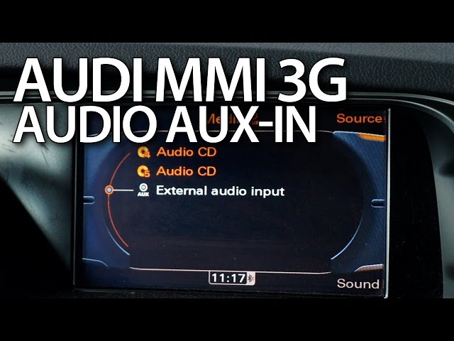 How to activate audio AUX in Audi MMI 3G (A1 A4 ... - YouTube