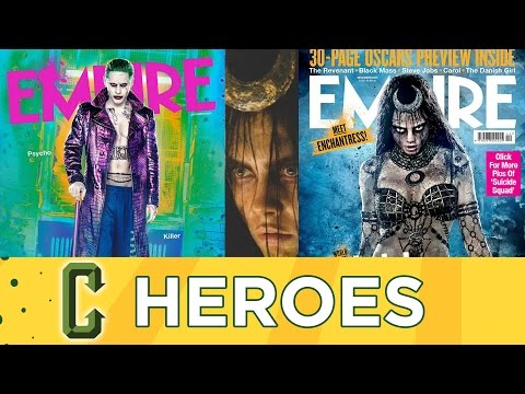 Heroes - New Suicide Squad Pics With Joker, Harley Quinn and the Enchantress