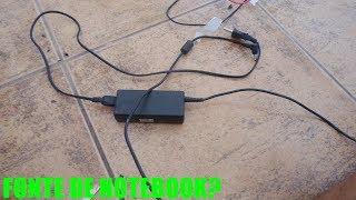 Carregador de Bateria automotiva com fonte de notebook