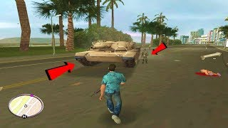GTA Vice City - (m1 Army tank Fight) Tank Battle in grand theft auto vice city gameplay (HD)