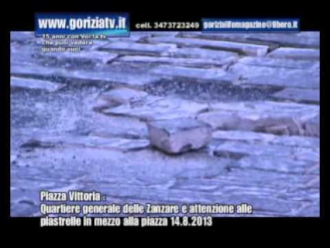 Piazza Vittoria quartiere generale delle zanzare attenzione piastrelle in mezzo alla p zza 14 8 2013
