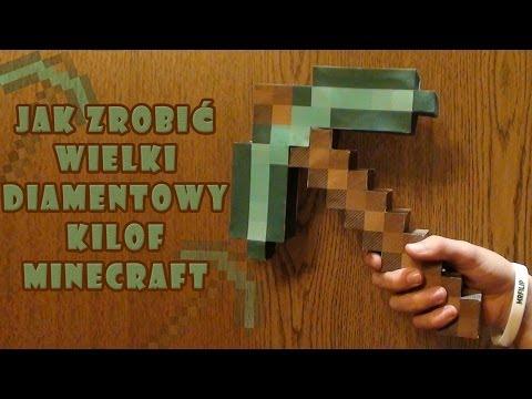 Minecraft Jak zrobić Wielki Diamentowy kilof z papieru - Minecraft how to make