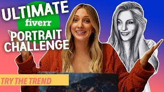 I Paid Artists On Fiverr To Draw Me - CHEAP VS EXPENSIVE CHALLENGE! | Try The Trend