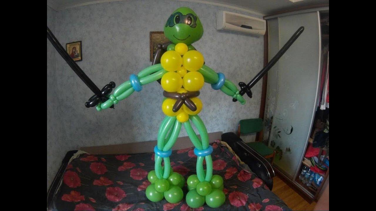Как сделать черепашки ниндзя из шаров