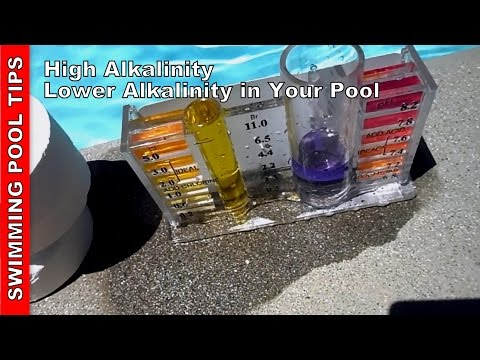 High Alkalinity. lowering Alkalinity in your pool.wmv