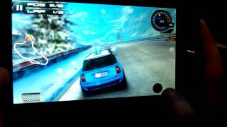 "Playing Asphalt on a 7"" Android Tablet (Mobee T1200)"