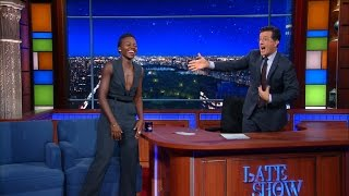 Lupita Nyong'o And Stephen Do Silly Walks