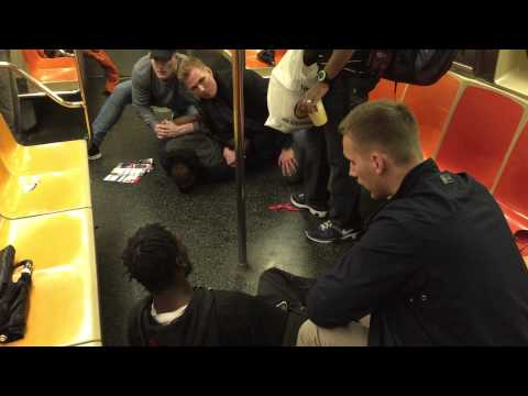 Swedish cops on vacation break up fight on NY subway