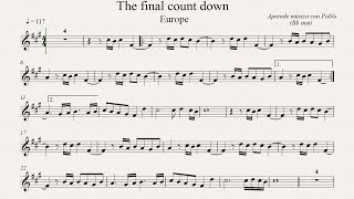 THE FINAL COUNTDOWN:  Bb inst (clarinete, trompeta, saxo soprano/tenor) (partitura con playback)