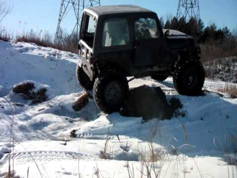 Jeep TJ winter wheeling