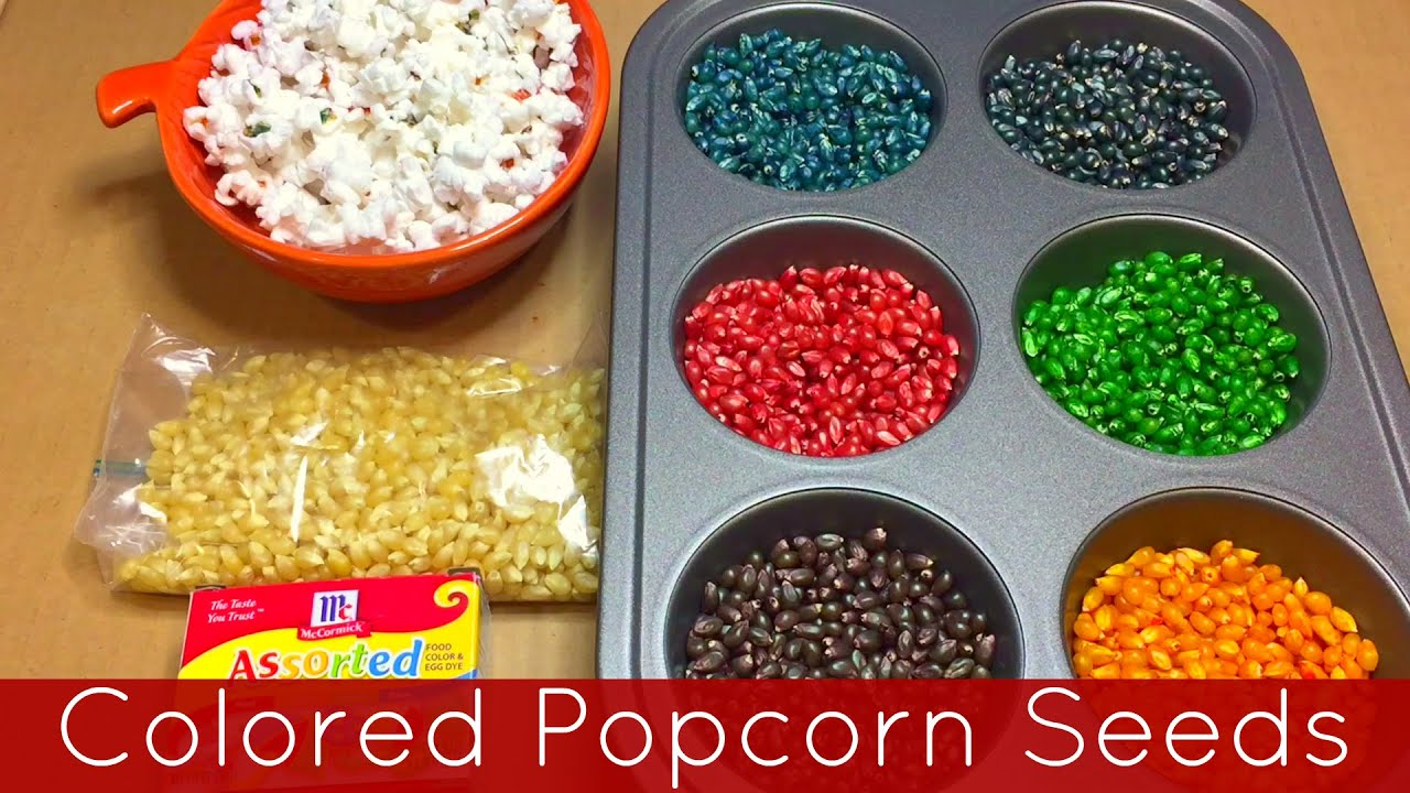 Colored Popcorn Recipe With Food Coloring