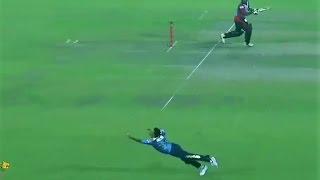 A flying catch taken by Nasir Hossain in BPL 2016 | Match no 2 | Dhaka Dynamites vs Barisal Bulls