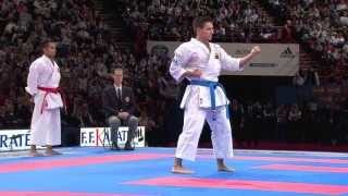 Final Male Kata. Antonio Diaz of Venezuela. 21st WKF World Karate Championships Paris 2012