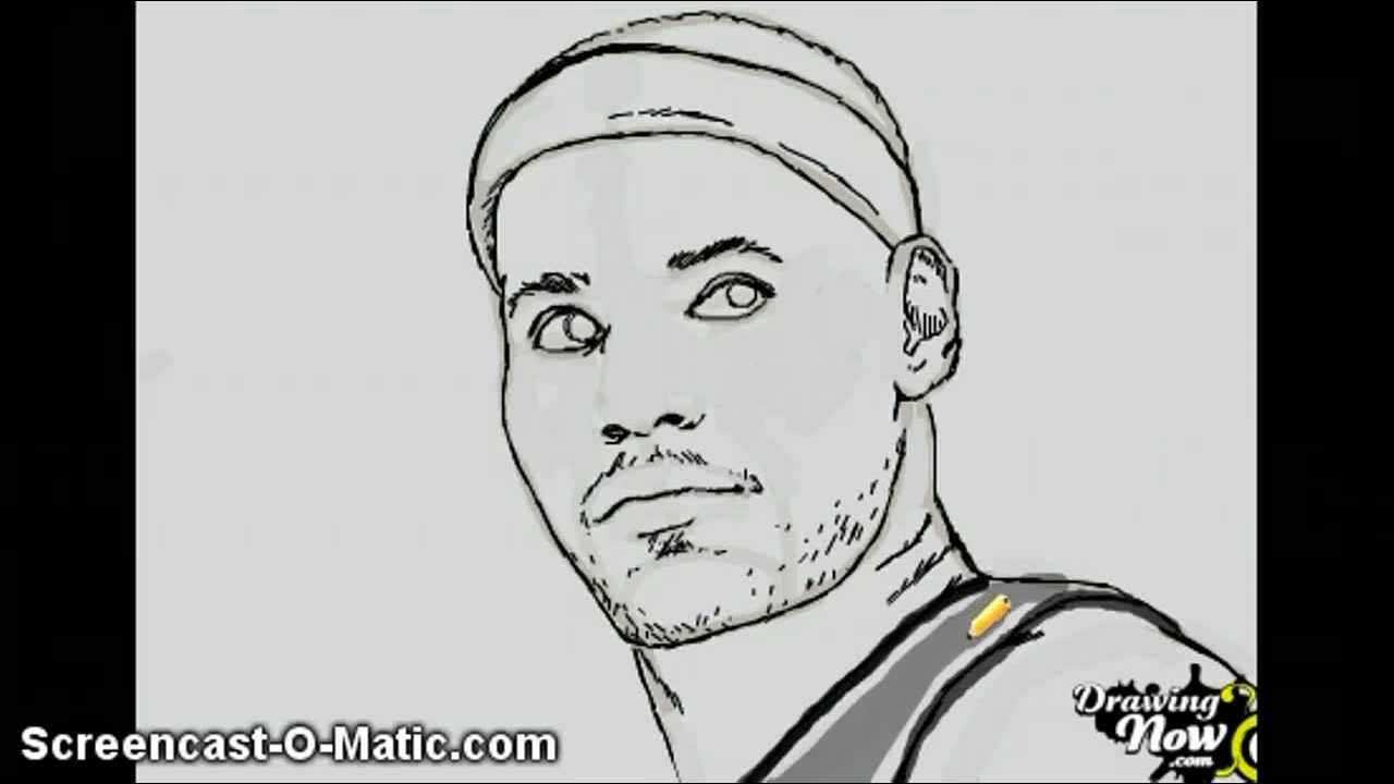 Lebron Dunking Drawing How to Draw Lebron James