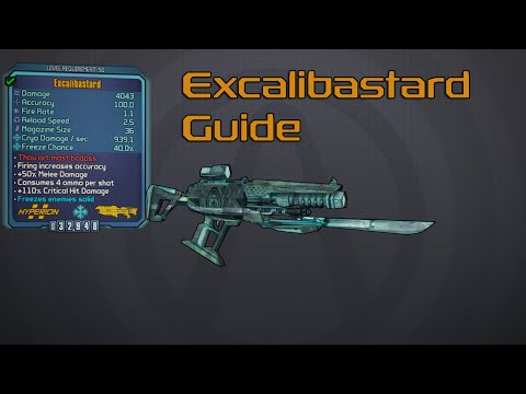 Borderlands The Pre-Sequel Guide | Excalibastard Legendary Weapon