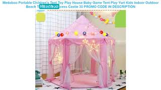 Buy Medoboo Portable Children's Tent Toy Play House Baby Game Tent Play Yurt Kids Indoor Outdoor Be