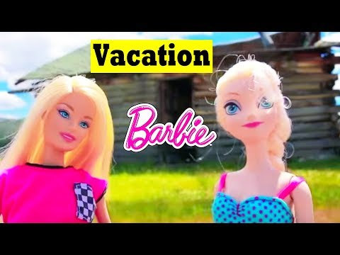 Frozen ELSA VACATION Barbie Airplane Day 3 Disney Parody Anna Barbie Ultimate House AllToyCollector