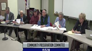 Community Preservation Committee 12-5-18