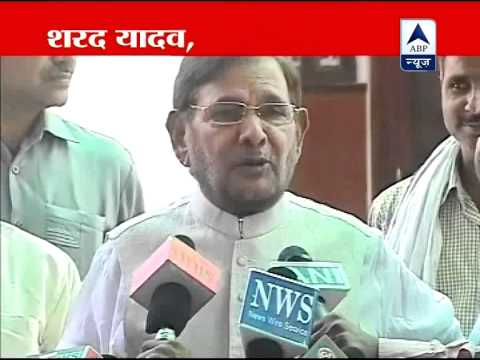 Sharad Yadav misbehaves with mediapersons
