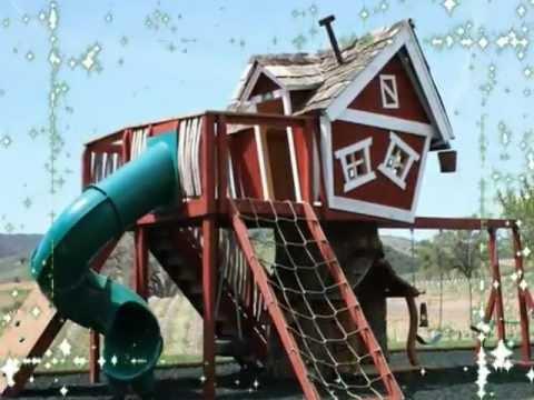 Monkey Mansion Kids Outdoor Playhouse
