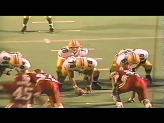 Oregon QB Danny O'neil 10 yard touchdown run vs. Utah 9-21-1991