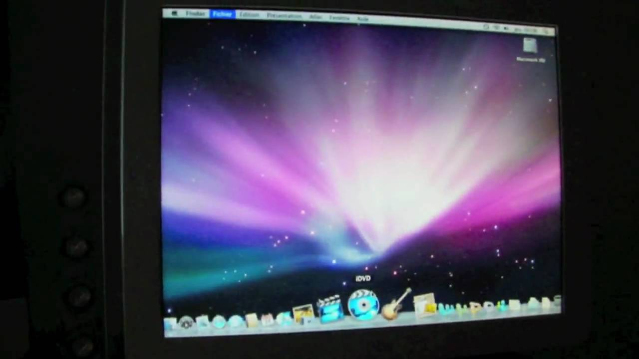 Imac g4 700mhz running leopard mac os x 10 5 8 youtube for Raumgestaltung mac os x
