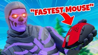 Trying out the FASTEST MOUSE in Fortnite... (so good)