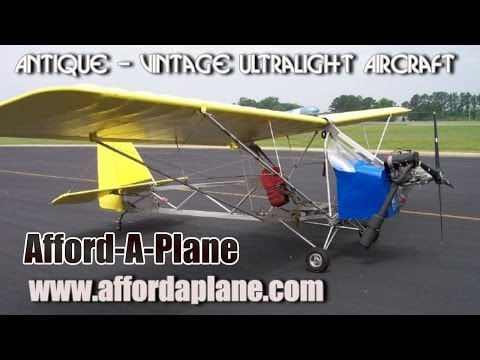 Afford A Plane ultralight or experimental amateurbuilt aircraft.
