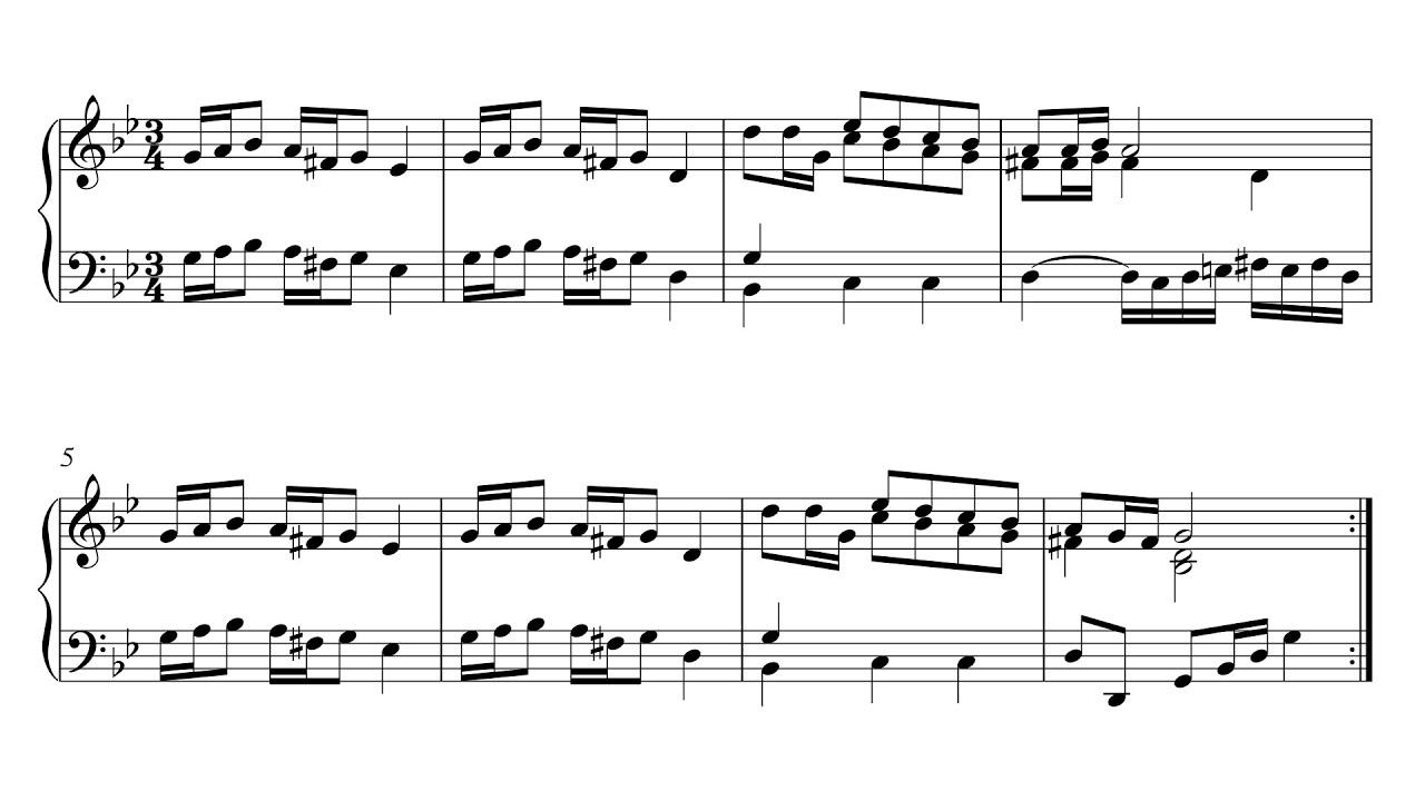 Polonaise f Major Bach Bach Polonaise in g Minor