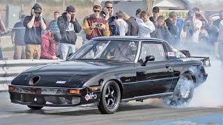 Mazda RX-7 Rotary vs. V8 MONSTERS