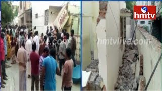 Building Collapse 1 Killed In Huda Colony | Chandanagar | Telugu News | hmtv