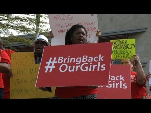 Protest outside Nigerian Embassy in US over missing girls