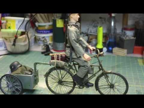 RC 1/6 scale WWII Action figures German Military Bicycle.
