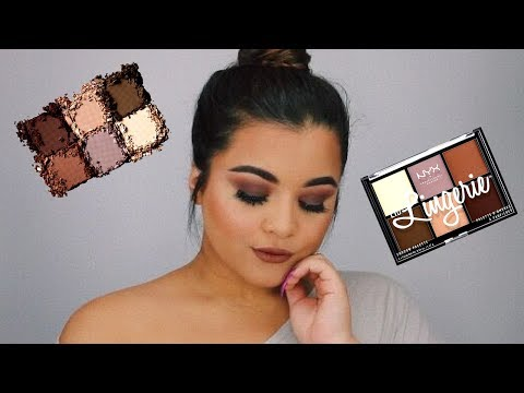 NYX LID LINGERIE all MATTE Smokey Eye Tutorial / First Impression and Review   Michelle Alvarez