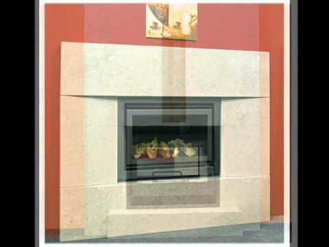 Chemineas de obra chimeneas de piedra natural chemineas - Chimeneas de piedra ...