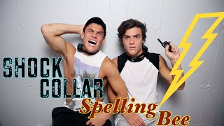 SHOCK COLLAR SPELLING BEE! // Dolan Twins