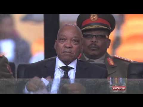 Zuma booed by FNB Stadium crowd but cheers Motlanthe & Mbeki Subscribe to eNCA for latest news. No Fear. No Favour: http://bit.ly/eNCAnews For our live cover...
