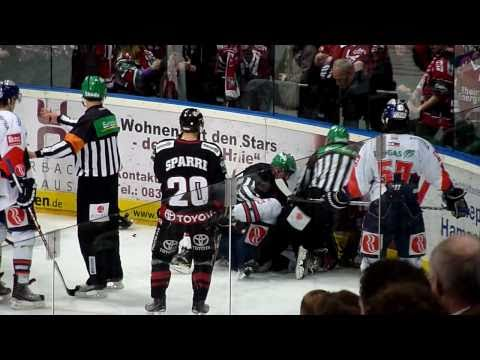 Bloody ice hockey fights