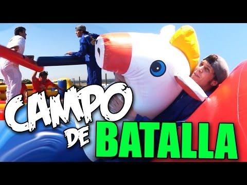 CAMPO DE BATALLA, OBSTACULOS Y CABALLOS