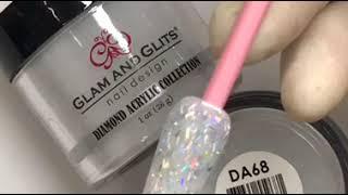 TNBL GLAM AND GLITS ACRYLIC POWDER SWATCH - DA68 BLUE RAIN (Diamond Collection)