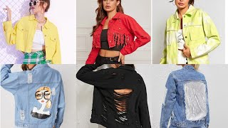 New Stylish Jacket Design 2020 | Girls Jacket Summer Denim Jacket Outfit | Fancy Jacket Designs