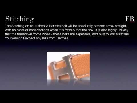 How to spot fake Hermes 'H' Belts from FakesRevealed