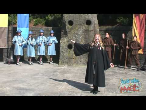 Beauxbatons girls and Durmstrang guys perform at the Wizarding World of Harry Potter