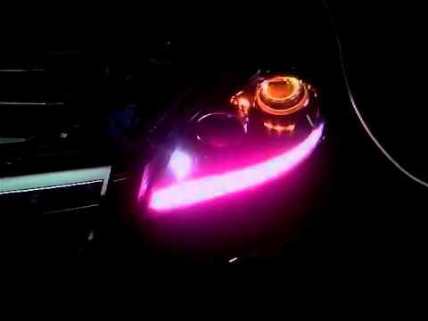 Подсветка линзы в фаре своими руками 44