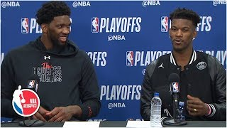 Jimmy Butler and Joel Embiid talk 76ers' huge Game 3 win | 2019 NBA Playoffs