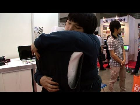 Sense-roid robot body lets you hug yourself #DigInfo