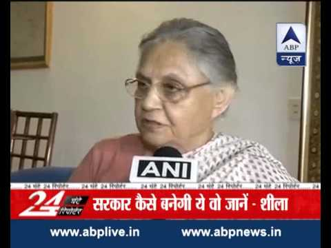 Sheila Dikshit backs BJP's bid to form govt in Delhi