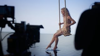 Vanessa Paradis On The Set Of Ces Mots Simples Chanel