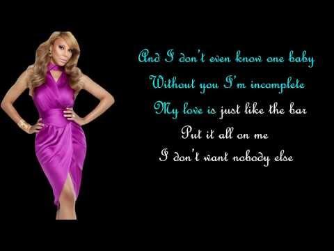 The One (karaoke instrumental) - Tamar Braxton video