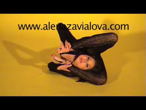 contortion flexible act sexy Alena Zavialova